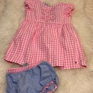 Tommy Hilfiger Dress With Matching Diaper Cover
